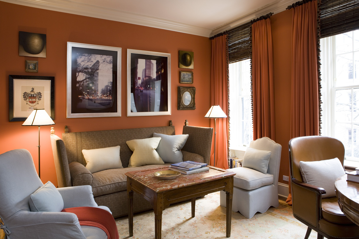 terracotta colour schemes for living rooms mad for matte 15 orange rooms that are anything but 26906