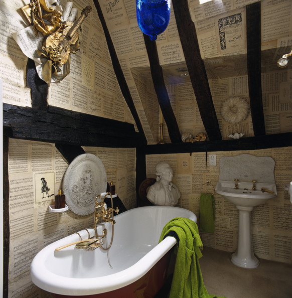 Music Theme Photos (1 Of 1). Eclectic Traditional Bathroom