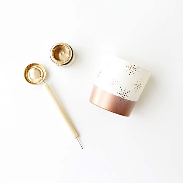 Copper-Dipped Candles