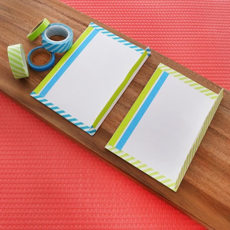 D i y washi tape stationary do it yourself projects lonny for What can you do with washi tape