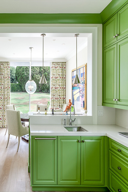 Just Add Lime 28 Cool Kitchen Cabinet Colors Lonny