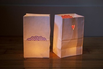 A Homemade Luminaria How-To
