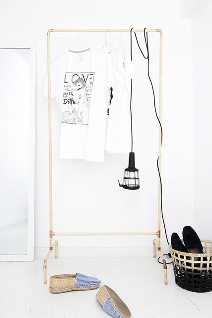 DIY To Try: Scandi-Inspired Clothing Rack
