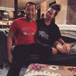 John Legend and Chrissy Teigen on the Couch