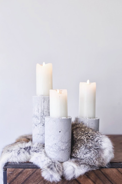 DIY of the Week: Minimal Concrete Candle Holders
