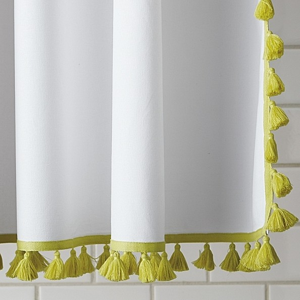 Tassel Shower Curtain by Serena & Lily