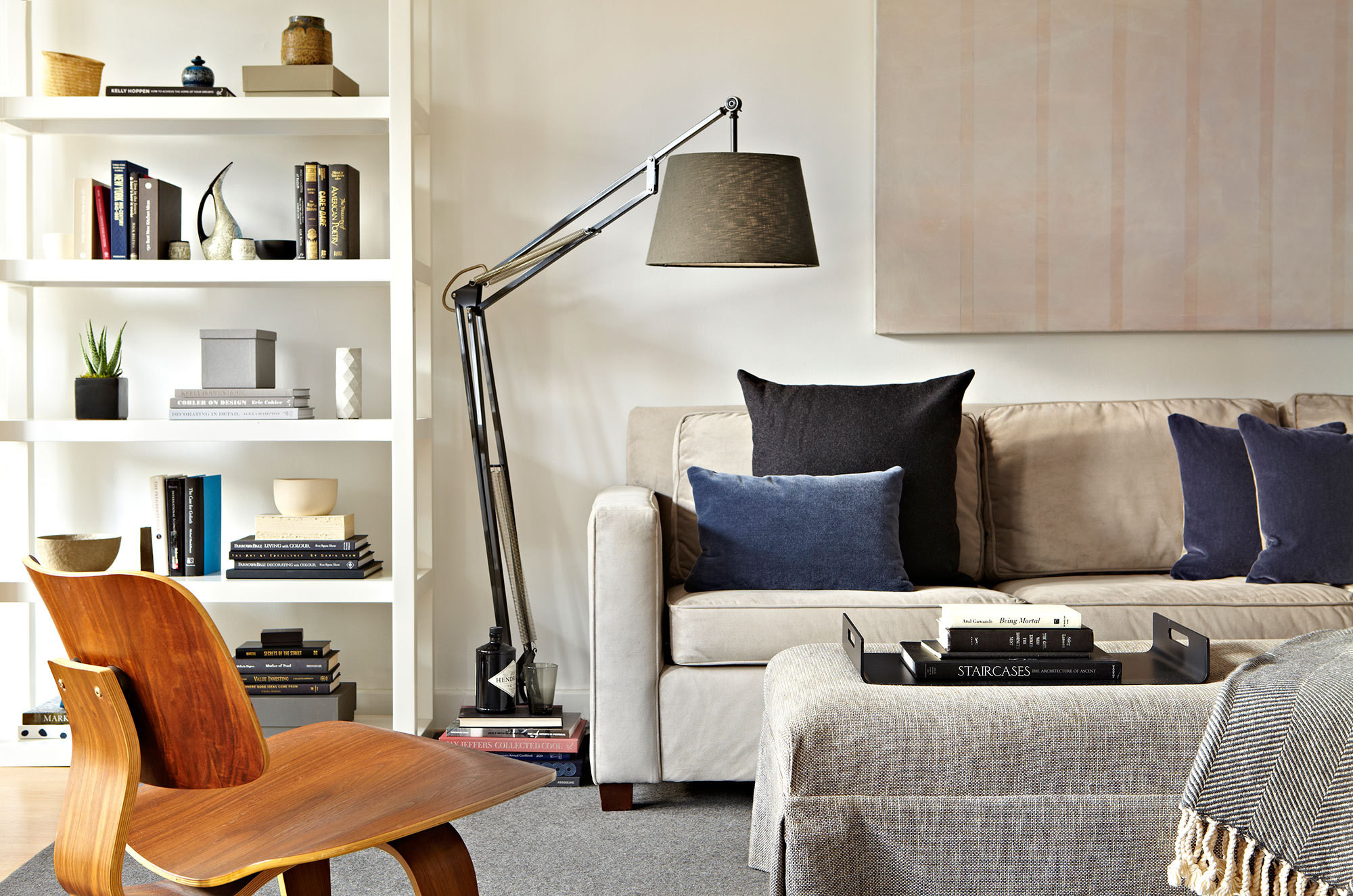 Approachable Furnishings From Retail Stores Such As West Elm Were Paired With Custom Made Items