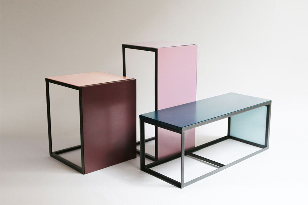 Modernist Collection Tables: $295–$350; Hawkins New York