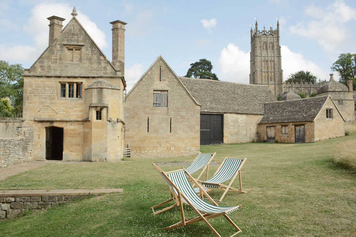 Historic limestone structures abound in the English market town of Chipping Campden. Among them: the medieval church of St. James', and Landmark Trust houses, which are available for rent.
