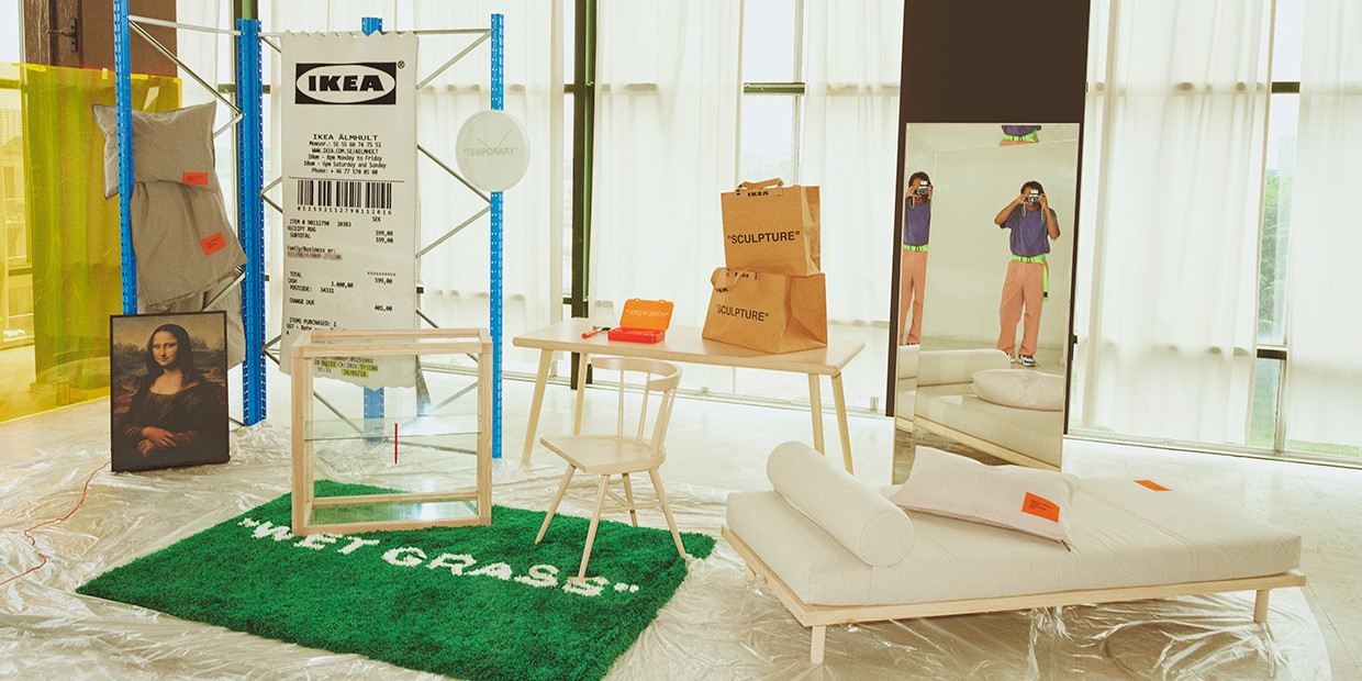 Virgil Abloh S New Ikea Collection Brings The Off White Vibe To Furniture Lonny