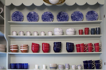 Idea to Steal: Colorful Open Shelving
