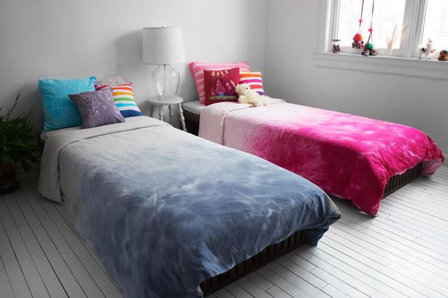 Hiho Batik Dip-Dyed Duvets, from $80.