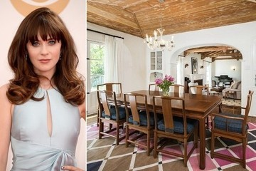 Zooey Deschanel Lists Her Home in the Hollywood Hills