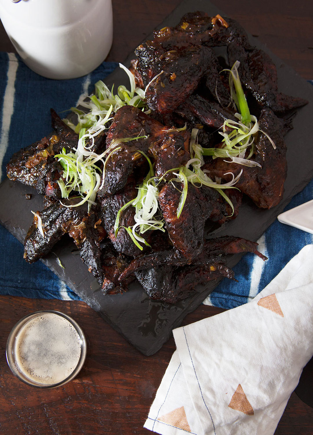 Lippert's baked, not fried chicken wings get a leg up on the standard buffalo variety thanks toAsian staples such as hoisin sauce,tamari, and garlic.