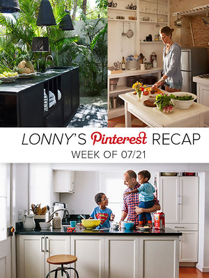 Lonny's Top Pins of the Week: Kitchen Islands