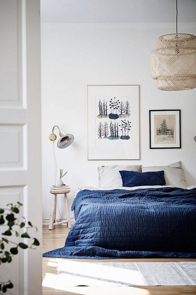20 Ways To Add Indigo Your Home Blue Bedroom