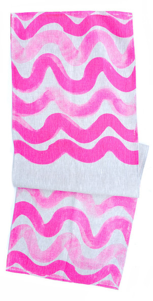 Pink Wave Table Runner