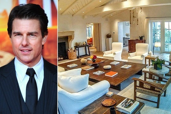 Tom Cruise's Mediterranean-Style Mansion in the Hollywood Hills