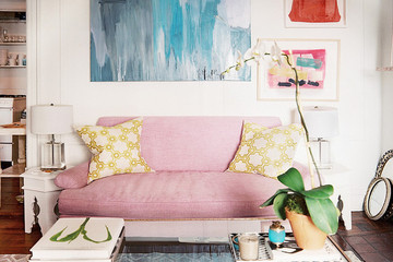 Get the Look : A Vintage-Gone-Girly Living Room