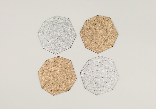 Gem Leather Coasters by Molly M Designs