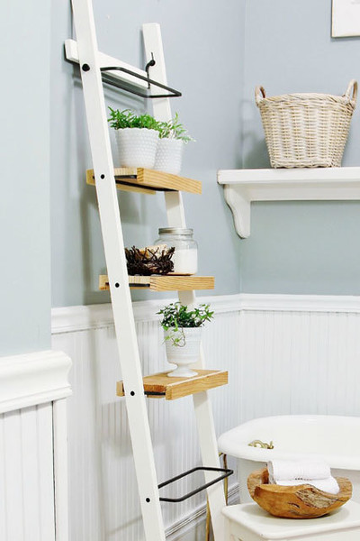 Fantastic Ladder Shelves The Best Ikea Bathroom Hacks From Pinterest Beutiful Home Inspiration Truamahrainfo