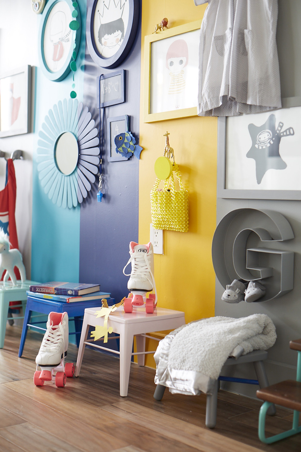 A Colorful Kid\'s Room Idea - Color Ideas 2014 - Lonny