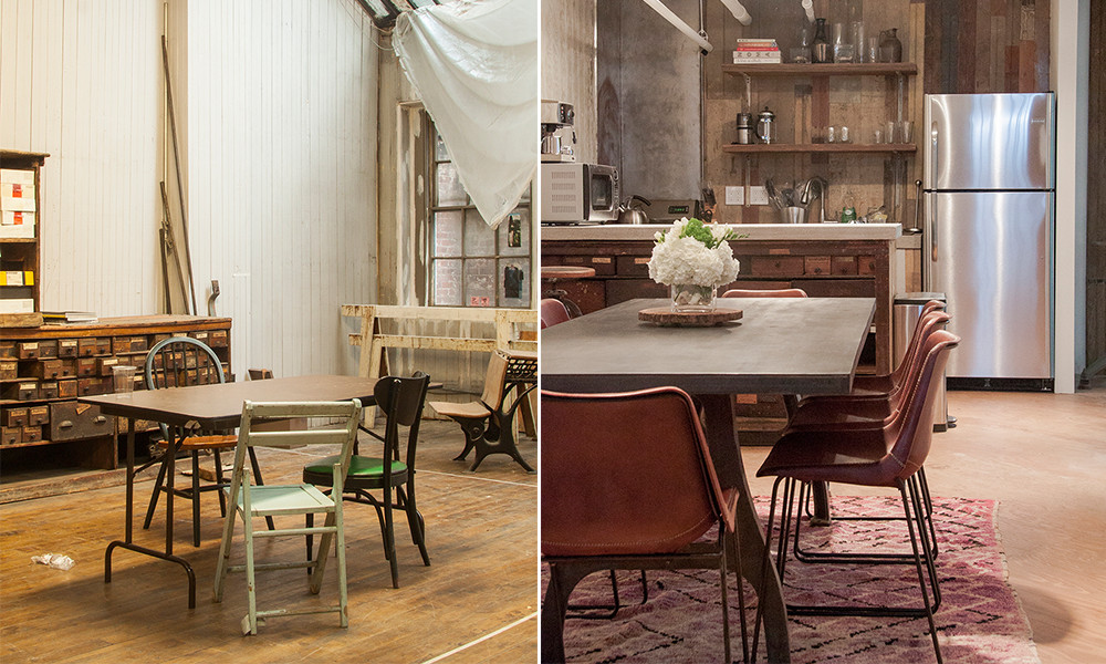 Before and after in designer Melissa Joy Manning's renovated SoHo flagship.