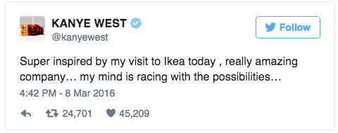 Kanye Wants To Create An IKEA Line
