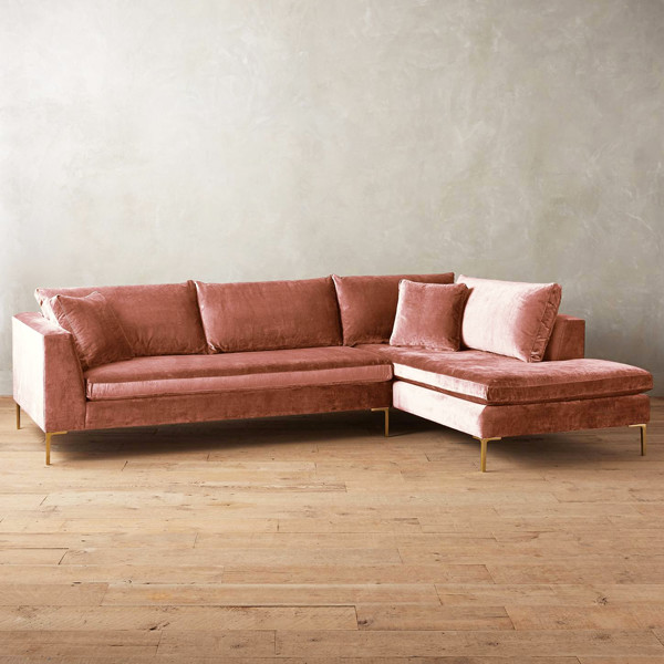 Slub Velvet Edlyn Sectional