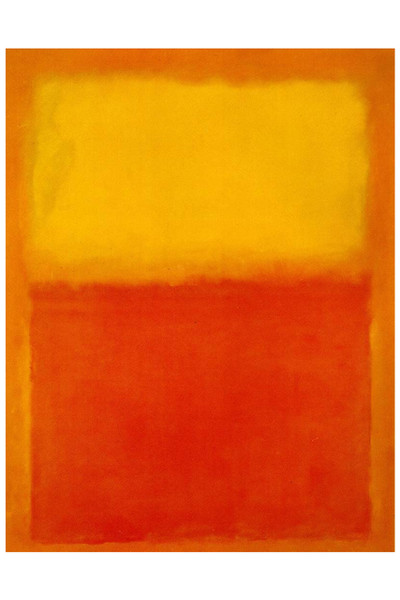 Mark Rothko's Orange Red And Yellow