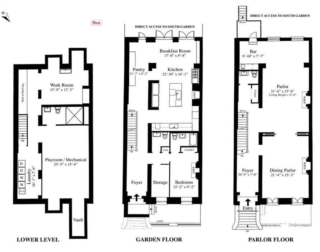 One Bedroom Apartment In The Bronx Sarah Jessica Parker S Townhouse Floorplan Sarah Jessica