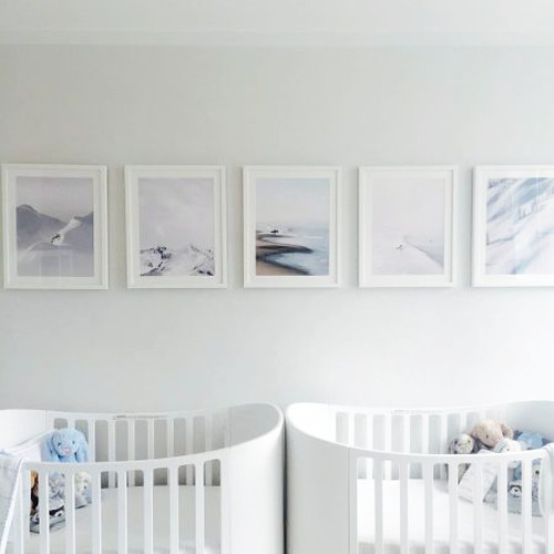 A Neutral Palette Keeps Twins' Room Calm