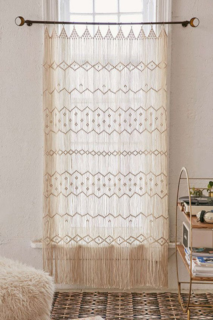 How To DIY Your Apartment Into A Boho Paradise On Budget Macrame Curtains