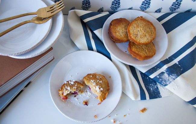 Plum and Almond Little Cakes, from the new cookbook by Sasha Wilkins (recipe below).