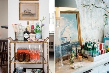 How to Work a Bar Cart Into Your Small Space