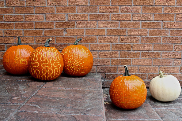 Diy halloween designer pumpkin carvings lonny