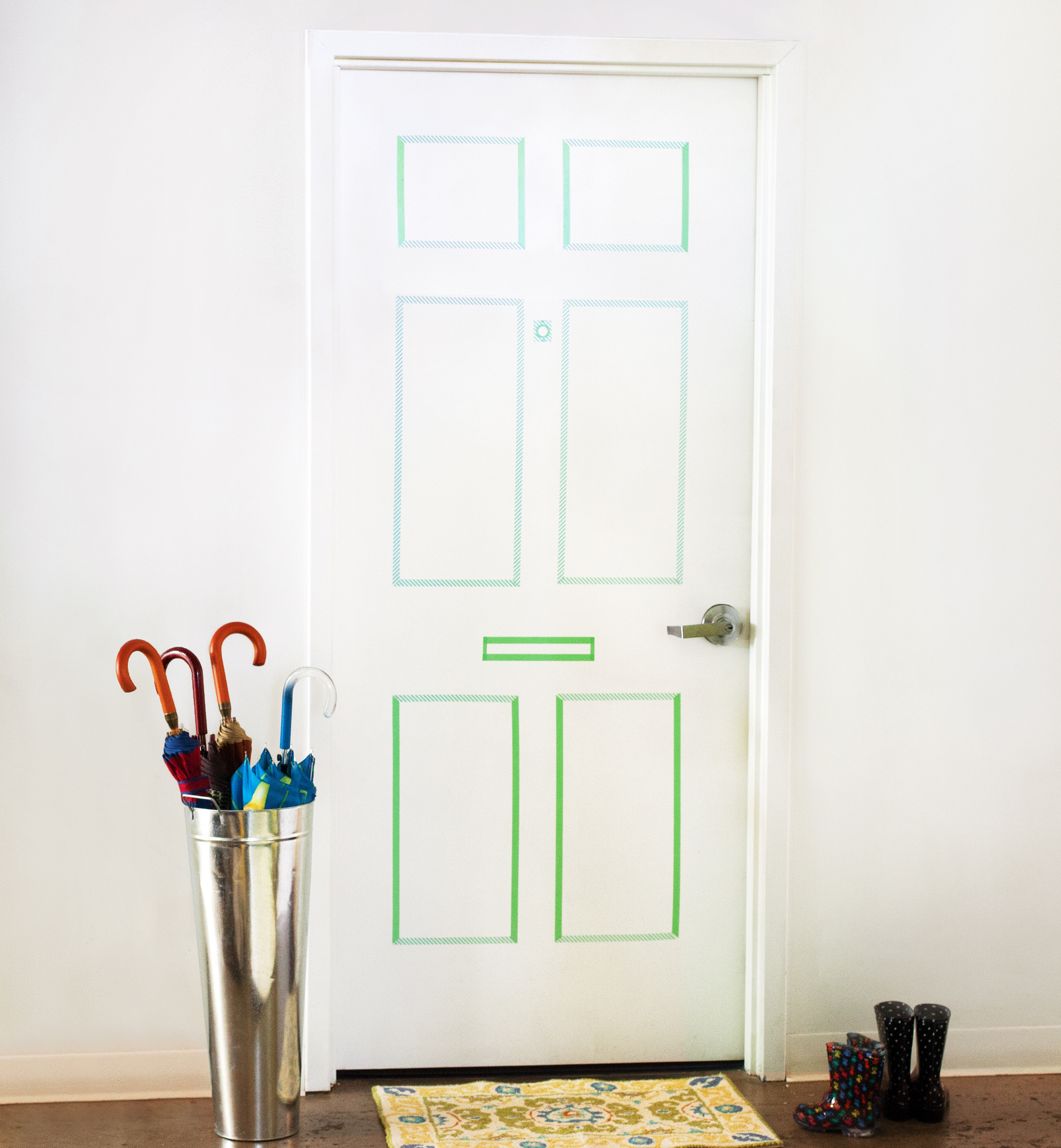How to Create a Faux Paneled Door with Washi Tape
