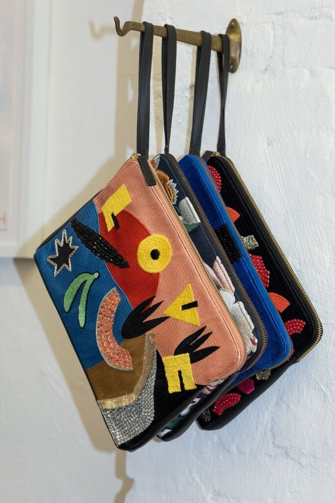 Eye-catching leather goods designed by Lizzie.