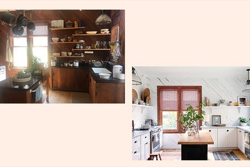A Retro, Wood-Paneled Kitchen Gets A Bright And Budget-Friendly Makeover