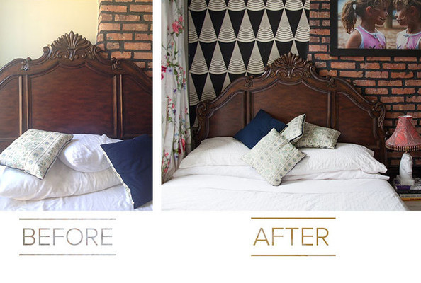 Easy Bedroom Makeover one lonny editor's easy bedroom makeover - fall makeover 2014 - lonny