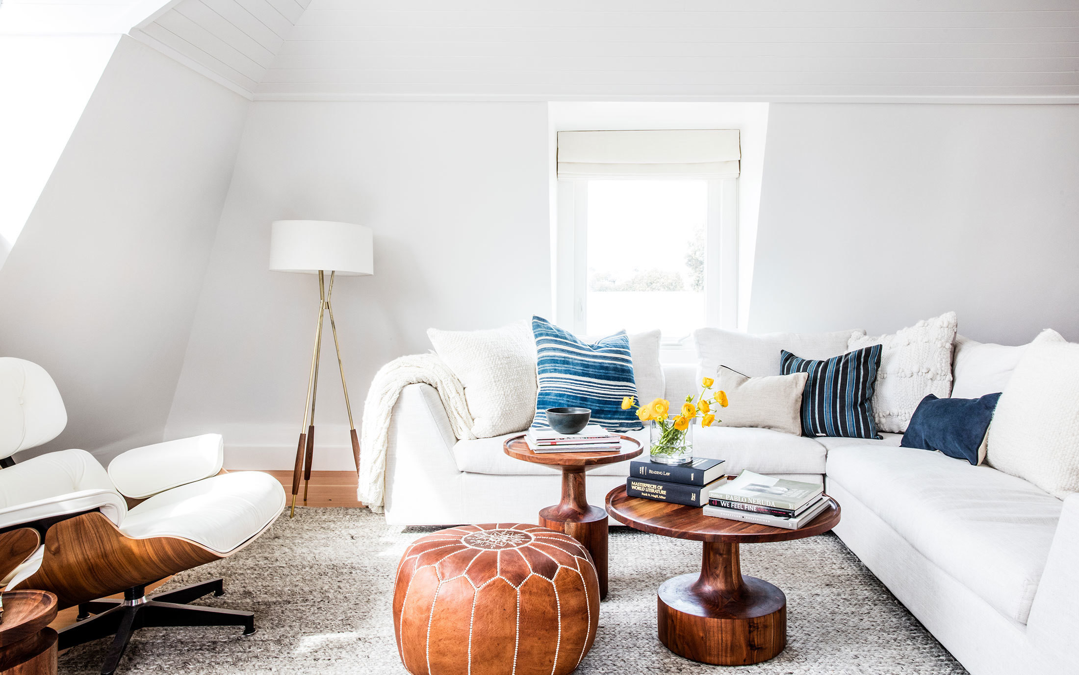 A clean, spacious family room designed by Katie Martinez in San Francisco's Noe Valley.