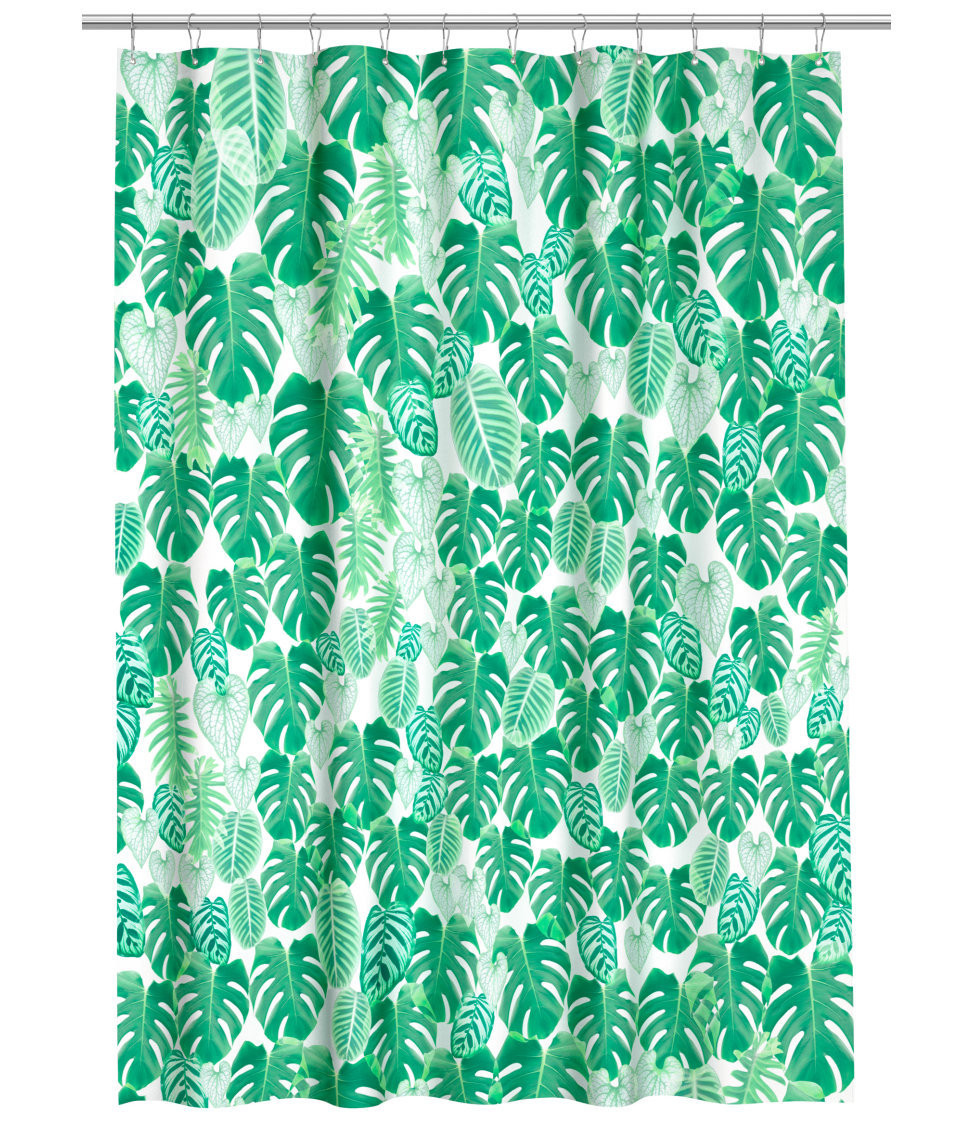Printed Shower Curtain, $19.99, H&M.