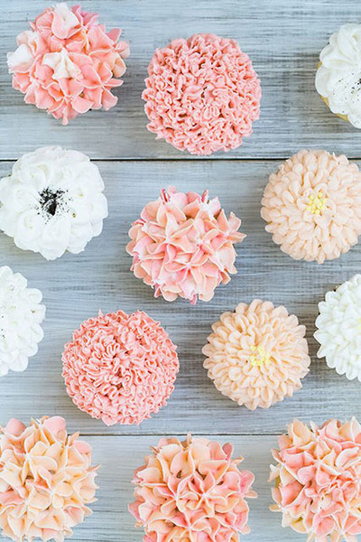 Floral Frosted Cupcakes