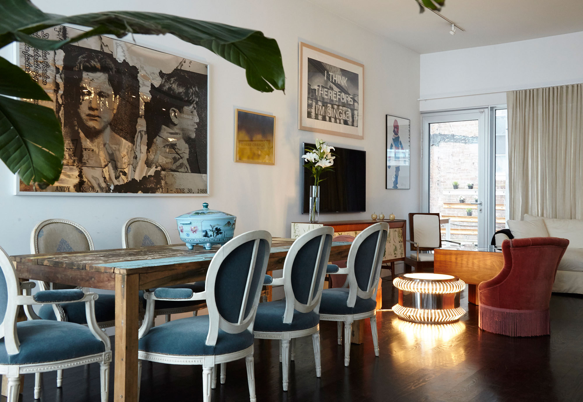 Her Tribeca home, just down the block, has become a rotating gallery of favorite furnishings, showcasing her latest finds and pieces in progress.