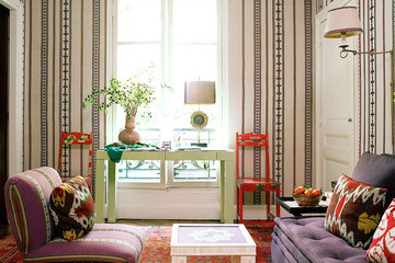 Throwback Home Tour: Textile Designer Lisa Fine's Parisian Pied-à-Terre