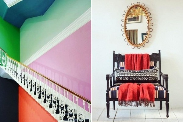 Color-Blocked Stairs, A Bohemian's Decor Shopping List, and a Modern German House