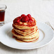 Goat-Cheese Pancakes with Raspberries