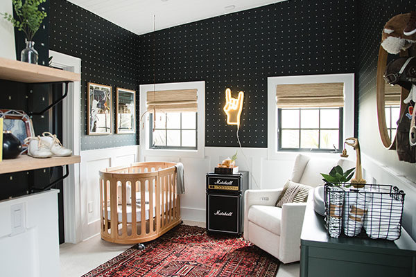 This Gender Neutral Nursery Is So Rock-N-Roll