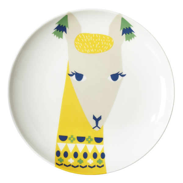 Llama Plate by Donna Wison