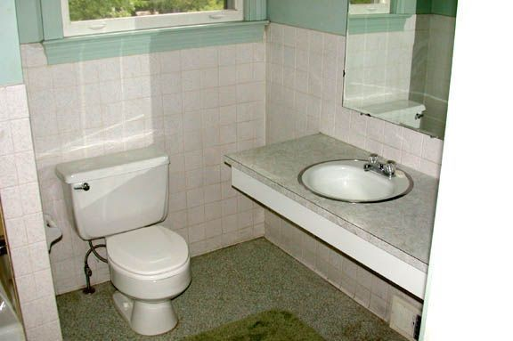 The Master Bathroom Before